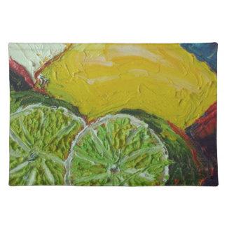 Cal Placemat del limón Mantel Individual