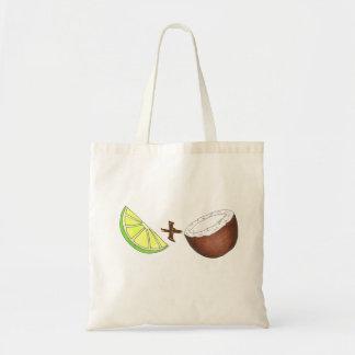 Cal tropical + Tote de la fruta del coco Bolsa Tela Barata