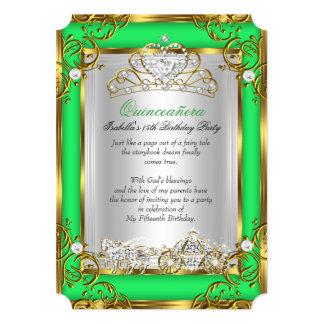 Cal verde del décimo quinto cumpleaños de princesa