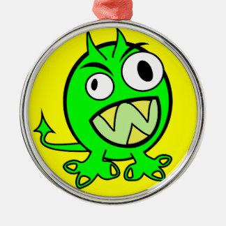 cal verde extranjera FUNN asustadizo del monstruo Adorno Navideño Redondo De Metal