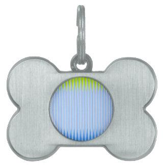 Cal y armadura azul del color placas de nombre de mascota