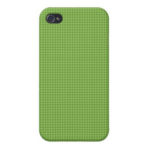Cal y caja a cuadros de la mota del verde iPhone 4 carcasa
