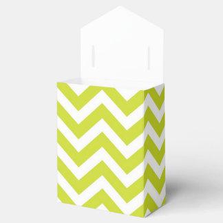 Cal y diseño blanco de Chevron Caja Para Regalo De Boda