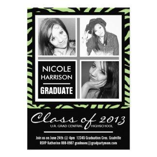 Cal y fiesta de graduación negra de la foto de la anuncios personalizados