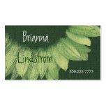 Cal y girasol del verde caqui tarjeta de visita
