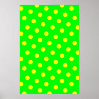 Cal y lunares amarillos póster
