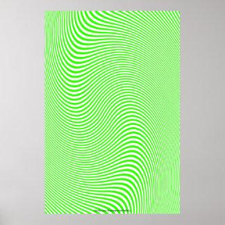 Cal y poster blanco de la pared de la ilusión ópti