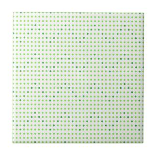 Cal y tejas verdes de los puntos del modelo de