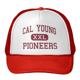 Cal Young - Pioneers - Middle - Eugene Oregon Trucker Hats