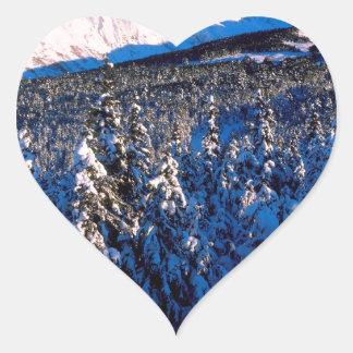 Cala Alaska del barranco de Kenai Ains del parque Pegatina En Forma De Corazón