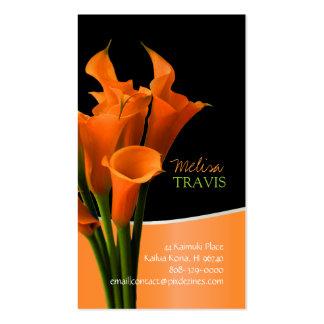 Cala anaranjada de PixDezines/fondo diy Tarjetas De Visita