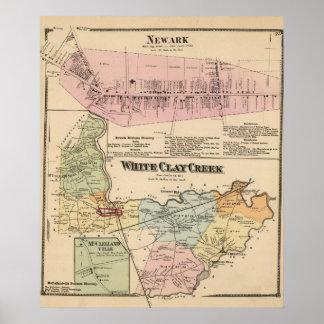 Cala blanca de la arcilla, Newark Poster