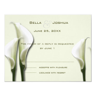 Cala blanca Lillies RSVP Invitación 10,8 X 13,9 Cm
