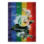 Cala botánica del vintage del arco iris del boda invitación 8,9 x 12,7 cm