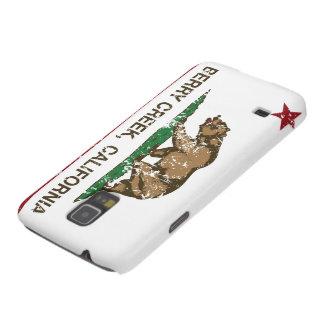 Cala de la baya de la bandera de California Fundas De Galaxy S5