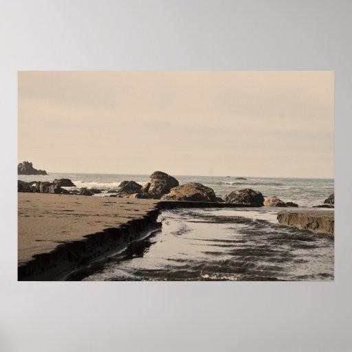 Cala de la playa impresiones