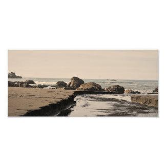 Cala de la playa impresión fotográfica