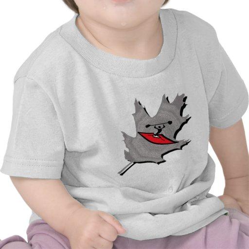 Cala de plata del kajak camiseta