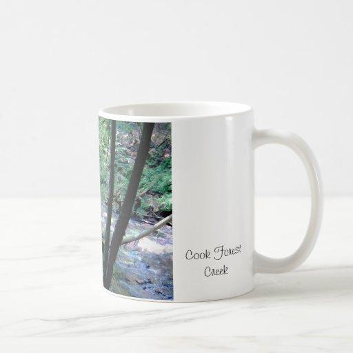 Cala del bosque del cocinero tazas de café