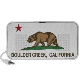 Cala del canto rodado de la bandera de California iPod Altavoz