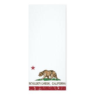 """Cala del canto rodado de la bandera de California Invitación 4"""" X 9.25"""""""