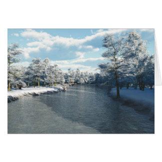 Cala del invierno (espacio en blanco) tarjeta de felicitación