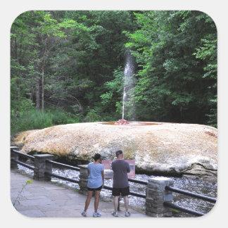 Cala del Parque-Géiser del estado del balneario de Pegatina Cuadrada
