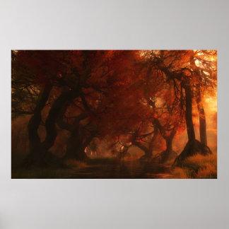Cala del toldo (otoño) posters
