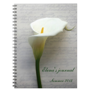 cala en el cuaderno del diario de la escritura