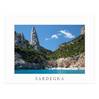 Cala Goloritze beach, Sardinia white postcard