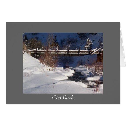 Cala gris tarjeta de felicitación