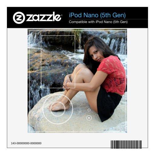 Cala hispánica de la mujer skins para iPod nano 5G