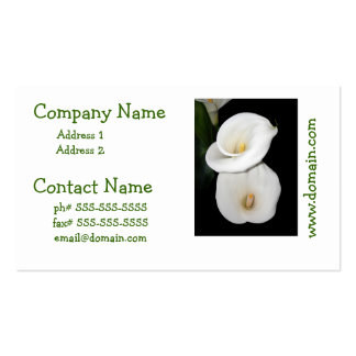 Cala Lilies Business Cards