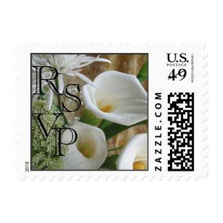 Cala Lilies RSVP Stamp