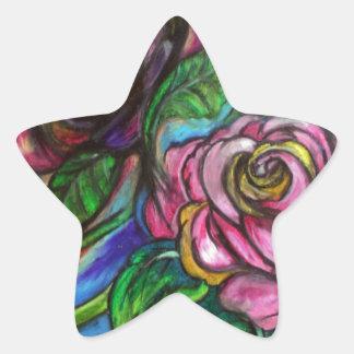 Cala Lillies Calcomanía Forma De Estrella Personalizada