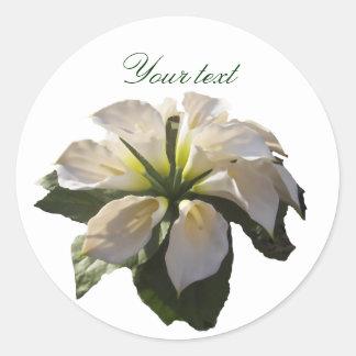 Cala Lilly Bouquet~Custom Pegatina Redonda