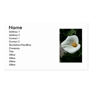 Cala Lily Flower Business Card