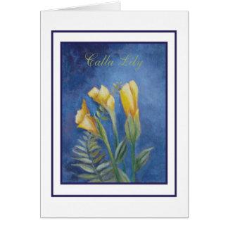 cala lily greeting card