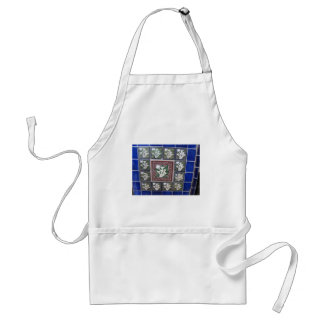 Cala Lily Mexican tiles Adult Apron