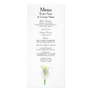 Cala Lily Modern Simple Elegant WeddingIdeas Rack Card