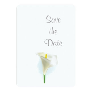 Cala Lily Wedding Day Theme Save the Date Card