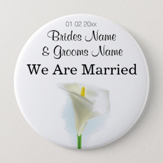 Cala Lily Wedding Souvenirs Keepsakes Giveaways Button
