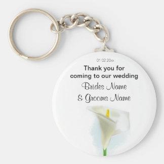 Cala Lily Wedding Souvenirs Keepsakes Giveaways Keychain