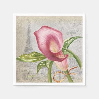 Cala macra de la flor servilletas de papel