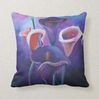 Cala púrpura almohada