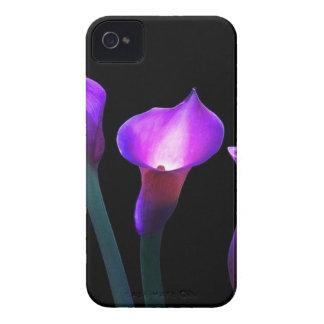 cala púrpura Case-Mate iPhone 4 protectores