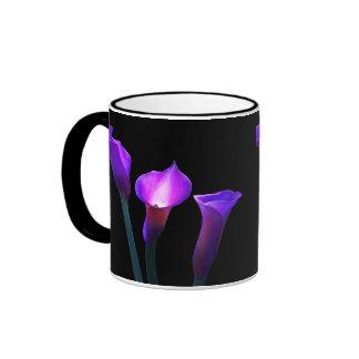 cala púrpura taza de dos colores
