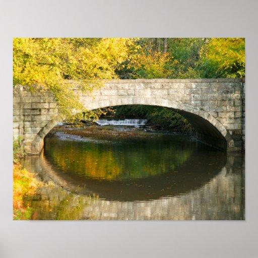 Cala y puente de la caída póster
