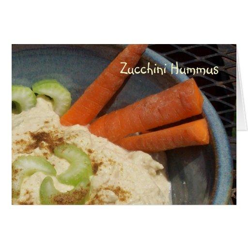 Calabacín Hummus Tarjeton