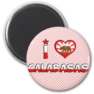 Calabasas, CA 2 Inch Round Magnet